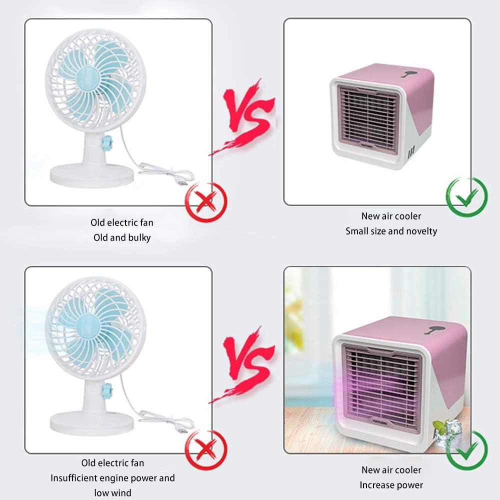 Mini aire acondicionado silencioso portátil ventilador ventilador ...