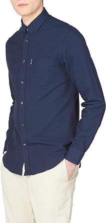 Ben Sherman Camisa Oxford de manga larga para hombre azul ...