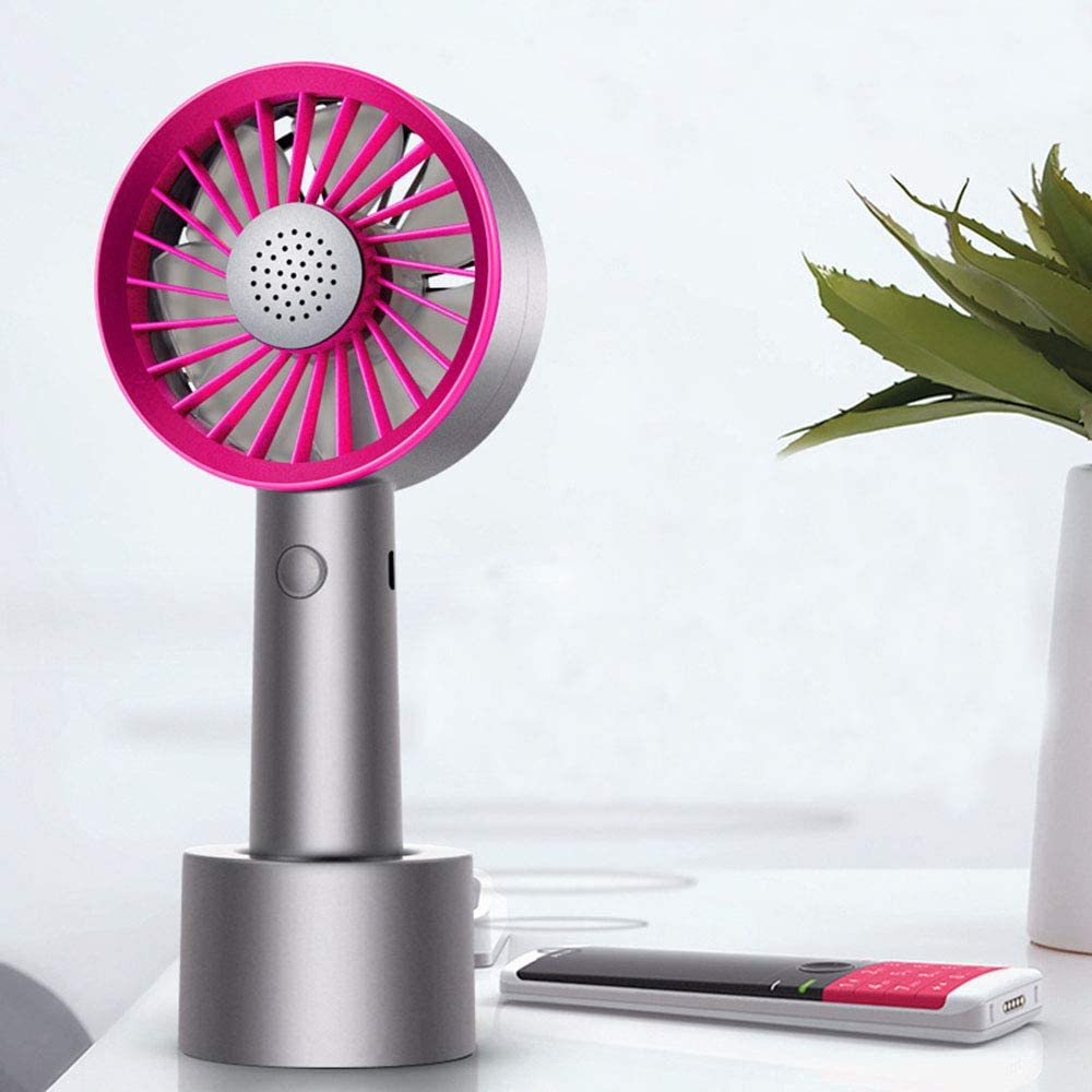Purple Rechargeable Mini Travel Handheld Fan,Desk Table Cooling Fan USB Charged for Office Desk Home Outdoor Travel Handheld Fan Small Size