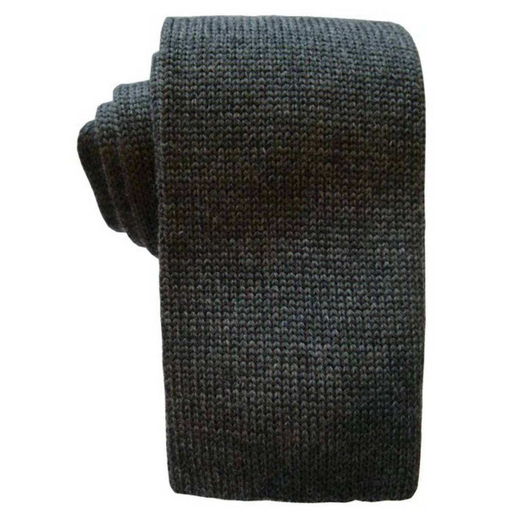 Grey KJ Beckett Mens Plain Wool Tie