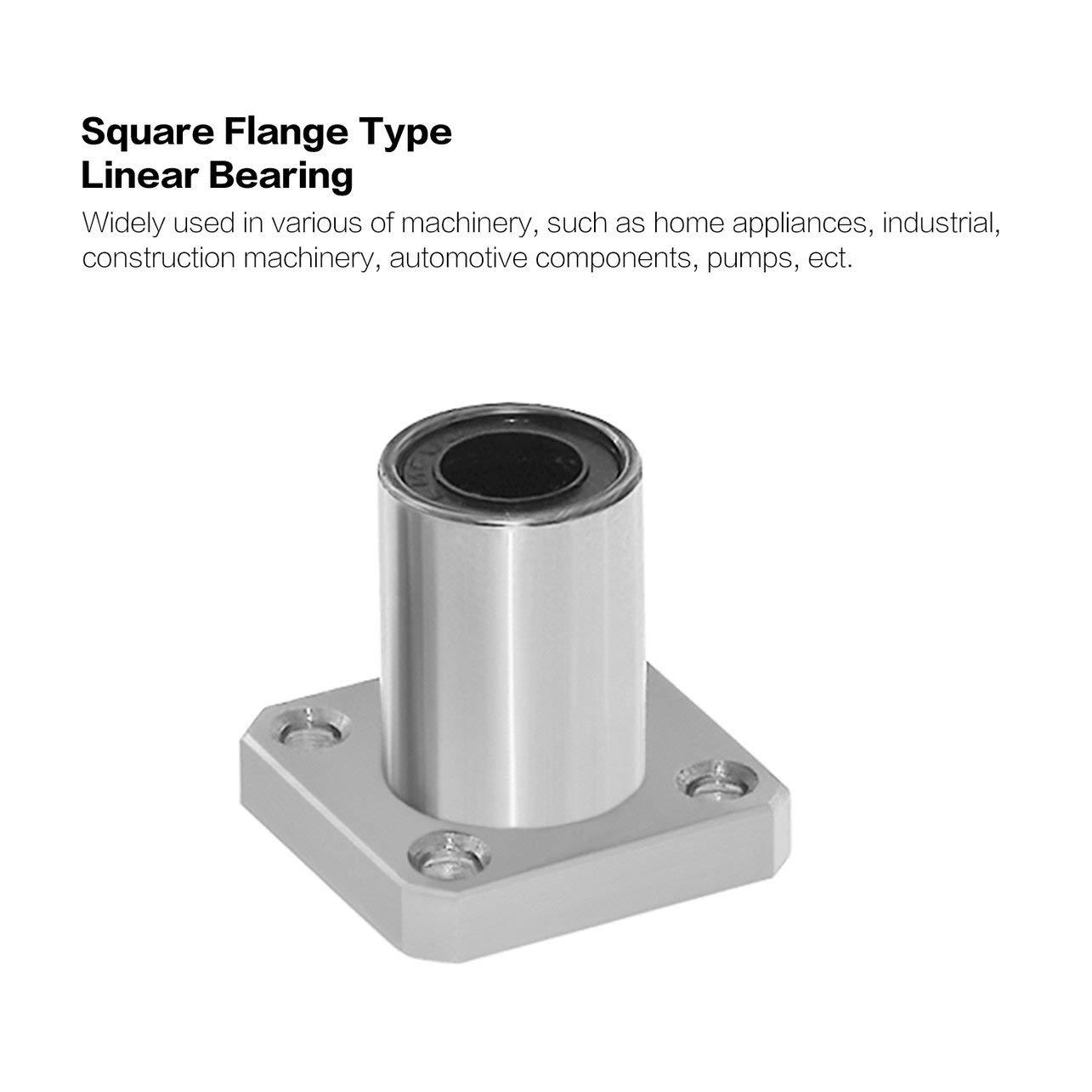 1PC LMK6UU dr: 6 mm de reborde cuadrado Tipo de rodamiento lineal ...