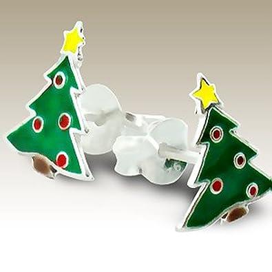793a5fd84714c Cute Green Christmas Tree Studs Earrings Girl's Children Kids Stering  Silver Nickle Free (E989)