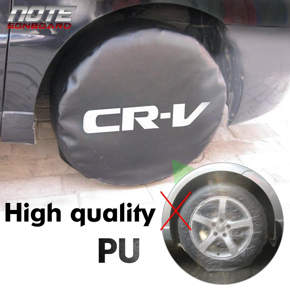 Spare Tire Cover PVC Leather Waterproof Dust-Proof Universal Spare Wheel Protector Soft Bag Fit for Honda CRV CR-V 14 14 for Diameter 23-27