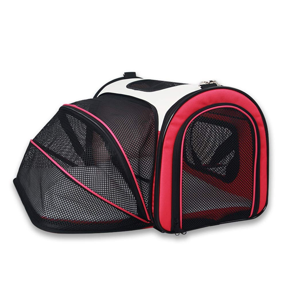 pink Red Small pink Red Small CL- Pet Bag Collapsible Pet Outing Bag Removable And Washable Light Out Carrying Case Three colors Available In Two Sizes Pet bag (color   pink Red, Size   S)