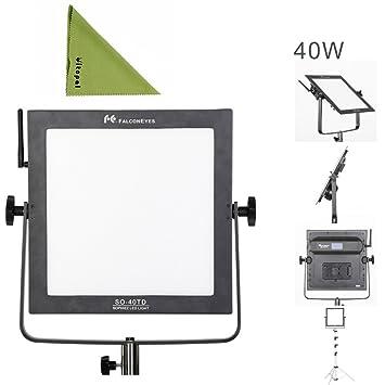 Falcon Eyes So 40td Led Studio Light 40w Square Panel Amazon Co Uk