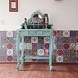CHINA Decorative Tile Stickers Set 12 units 6x6 inches. Peel & Stick Vinyl Tiles. Home Decor. Furniture Decor. Backsplash.