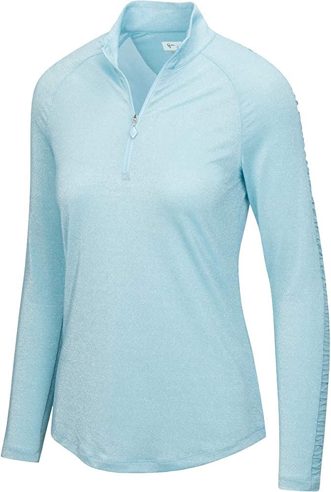 Greg Norman L/s Ruched Lurex 1/4-zip Mock Polo Cuarto de ...