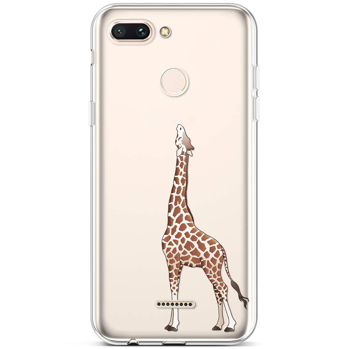 JAWSEU Custodia Xiaomi Redmi 6,Cover Xiaomi Redmi 6 Silicone TPU Trasparente,Bella Creativo Cristallo Chiaro Ultra Sottile Flessibile Morbida Soft Gel Bumper Coperture Protettiva Cover,#9