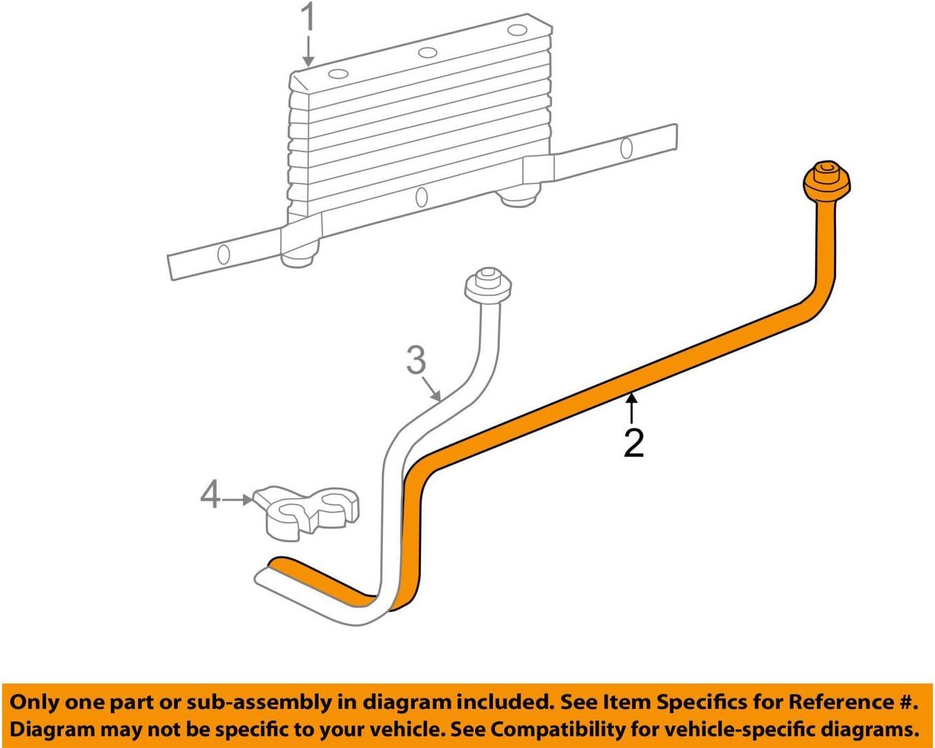 GM OEM Transmission Oil Cooler-Inlet pipe 15809058