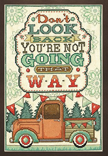 Completed Counted Cross Stitch - Tobin 2902 14 Count Don't Look Back Counted Cross Stitch Kit, 8