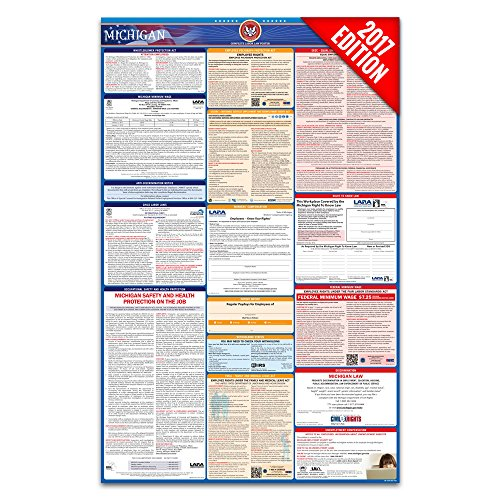 2017 Michigan Labor Law Poster – State & Federal Compliant – Laminated