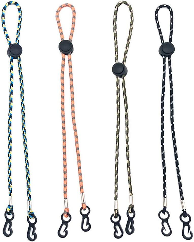 Schedar 10PCS Adjustable Face Bandanas Lanyard ID Badge Lanyards Eyeglasses Chain Holder Ear Straps Extender,Mouth Protector Necklace Hanging Ropes Earloops Saver,Safety Face Wrap Lanyard with Clasp