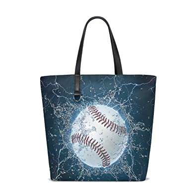 Bennigiry Baseball Pattern Polyester Tote Bag Shoulder Purse Handbag for  Women Girls  Amazon.co.uk  Shoes   Bags e59f964715