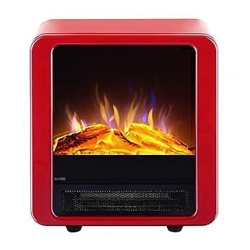 Calentador eléctrico de la estufa - marco de metal Chimenea con efecto de llama de fuego de ...