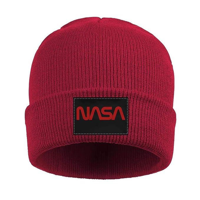 Amazon.com  Websi Wihey Unisex Knit Hats Old NASA Logo Thick Soft Winter  Warm Slouchy Beanie Wool Caps for Men Women  Clothing f1999b7b7c45