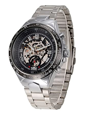 Amazon.com: tzou Ruso Esqueleto Automático Relojes para ...