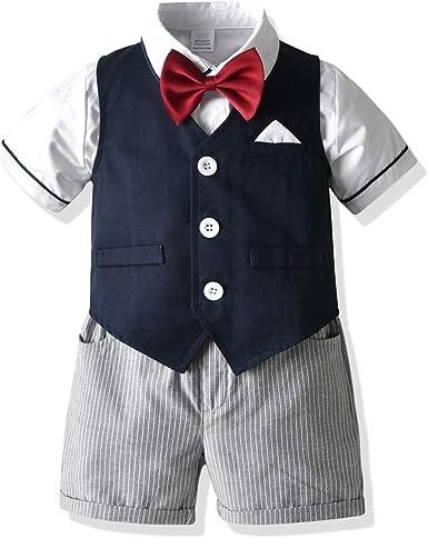 Niño Niño Niño Caballero Traje Camisa Chaleco Pantalones ...