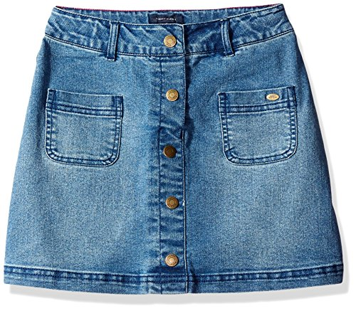 Tommy Hilfiger Big Girls Denim Skirt, Medium Wash, 7