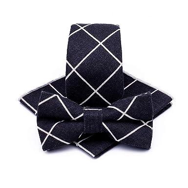 Corbatas para hombre Algodón y lino pajarita traje jardín viento ...
