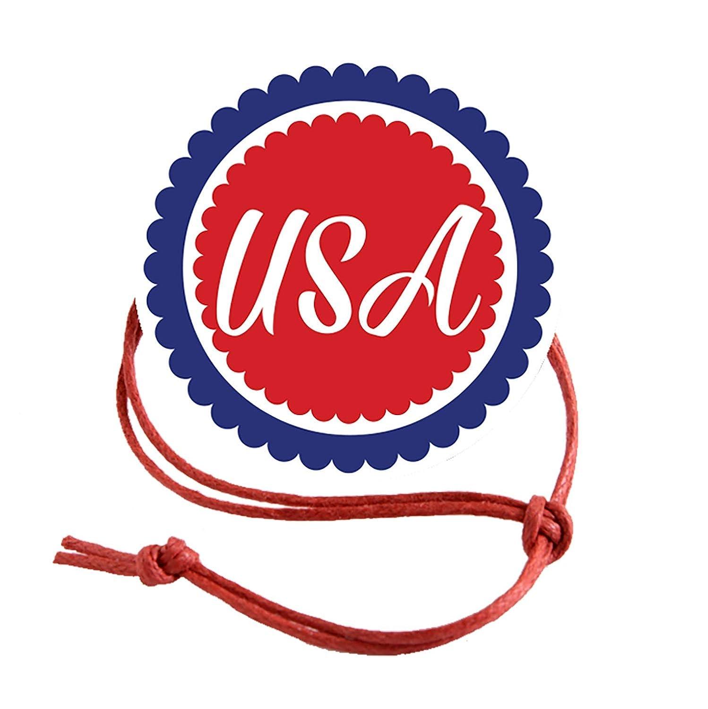 ナプキンノット 7月4日 USA ナプキンリング (10個パック) 標準 標準  B07Q14NKSM
