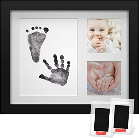 Marco de Fotos para Huellas de Bebé Pies y Manos Bonito Recuerdo Tinta Orgánica