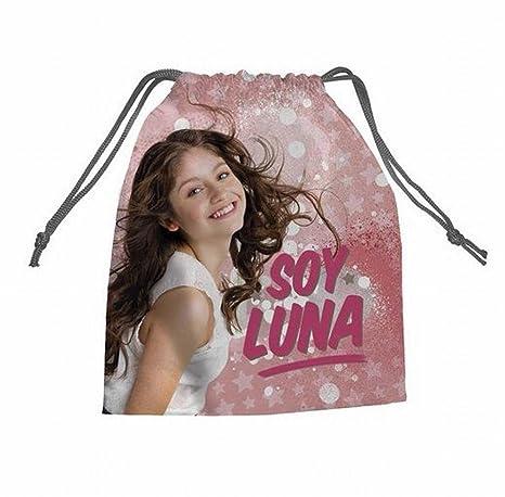 Bolsa merienda Soy Luna (Medidas: 26,5x21,5cm): Amazon.es ...