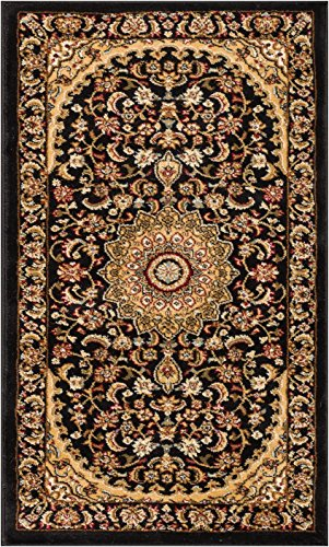 Well Woven Sultan Medallion Black Oriental 2x4 (2'3 x 3'11) Area Rug Persian Floral Formal Traditional Area Rug Easy Clean Stain Fade Resistant Modern Classic Contemporary Thick Soft Plush Doormat