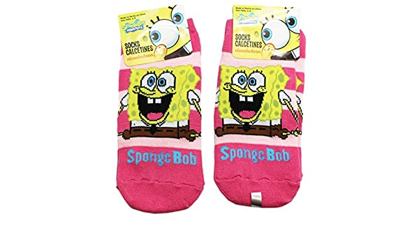 Amazon.com: Spongebob Squarepants Jump for Joy Hot Pink Kids Socks (2 Pairs, Size 4-6): Clothing
