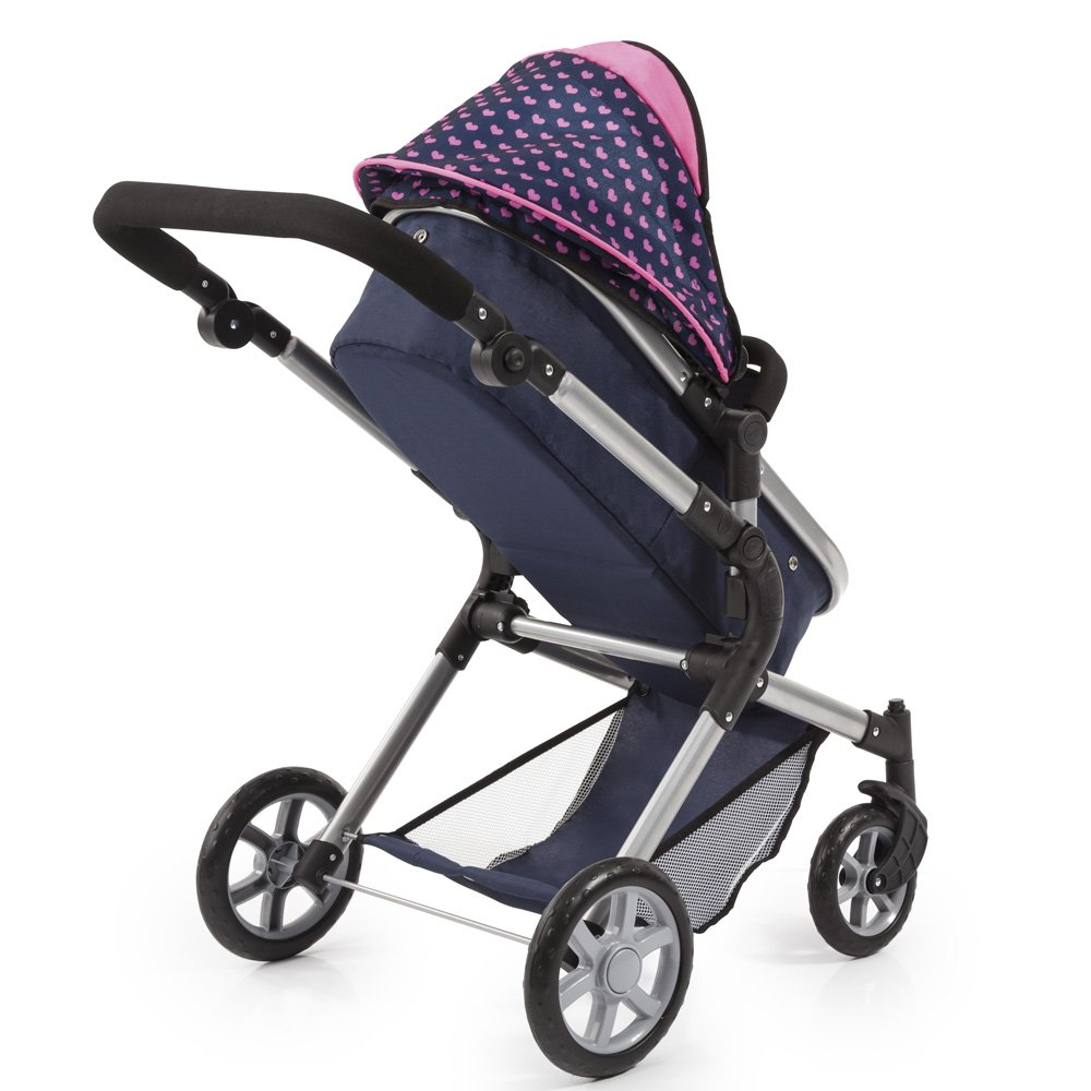 Bayer Design 18154AA City Neo Dolls Pram with Changing Bag, Blue/Pink by Bayer (Image #11)