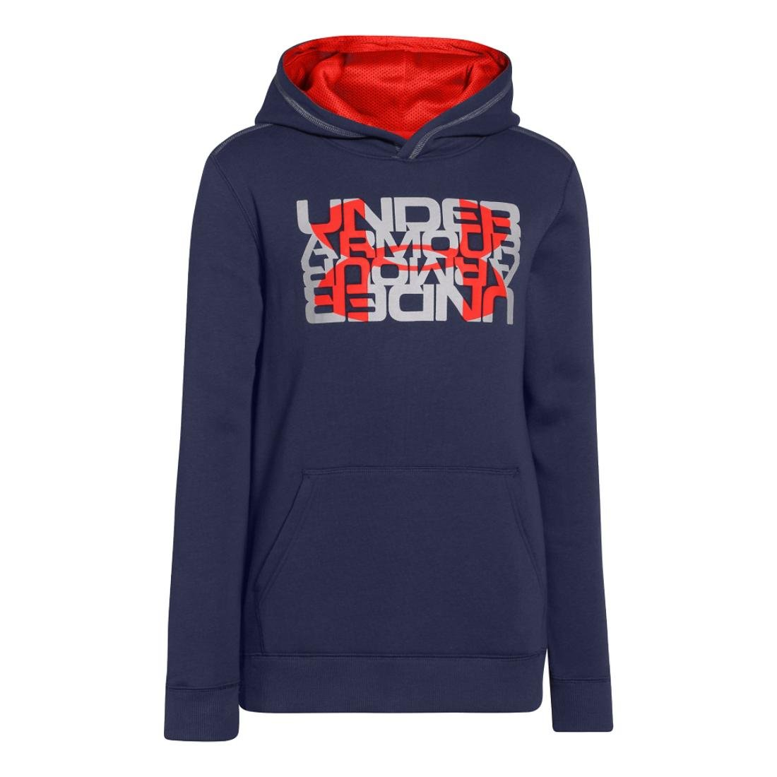 Under Armour Big Boys' UA Rival Fleece Logo X2 Hoodie