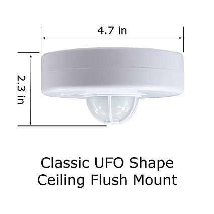 Amazon.com : J.LUMI YCA1001 360 Degree PIR Ceiling Occupancy Motion Sensor Light Switch High Sensitive Motion Sensor Switch (110V-277VAC) : Camera & Photo