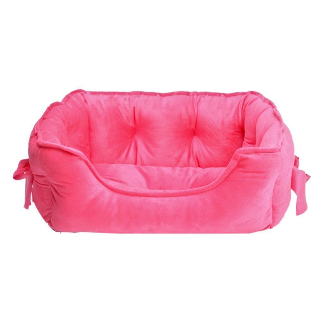 A 584022cm A 584022cm Dixinla Pet Bed Cloth Type Butterfly Knot shu Cotton Velvet Small Dog pet nest cat Nest