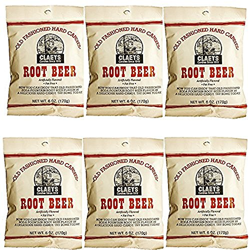 Claeys Old Fashioned Hard Candy - 6 Pack - Root Beer - Since -