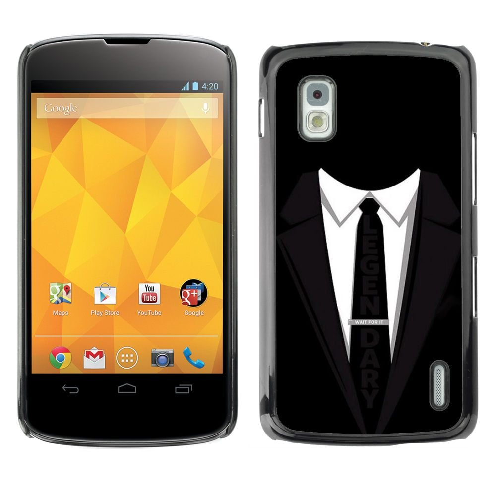 Carcasa de plástico funda     LG Nexus 4 E960     Traje corbata ...