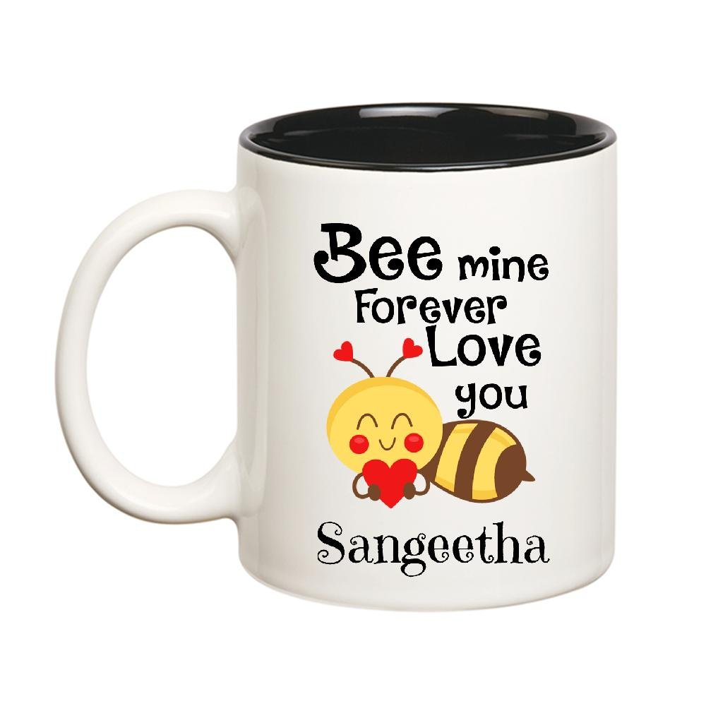 Buy Huppme Love You Sangeetha Bee mine Forever Inner Black Mug ...