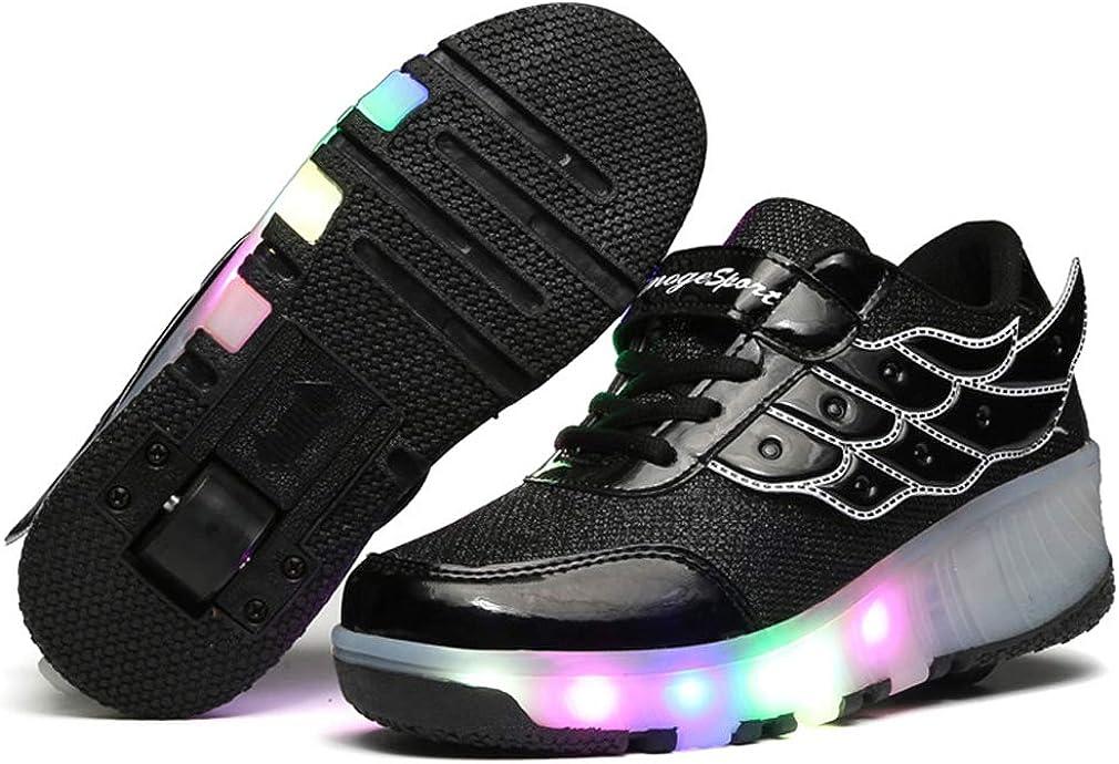 Charmstep Unisex Led Luz Automática de Skate Zapatillas con Ruedas Zapatos Patines Deportes Zapatos para Niños Niñas: Amazon.es: Ropa y accesorios