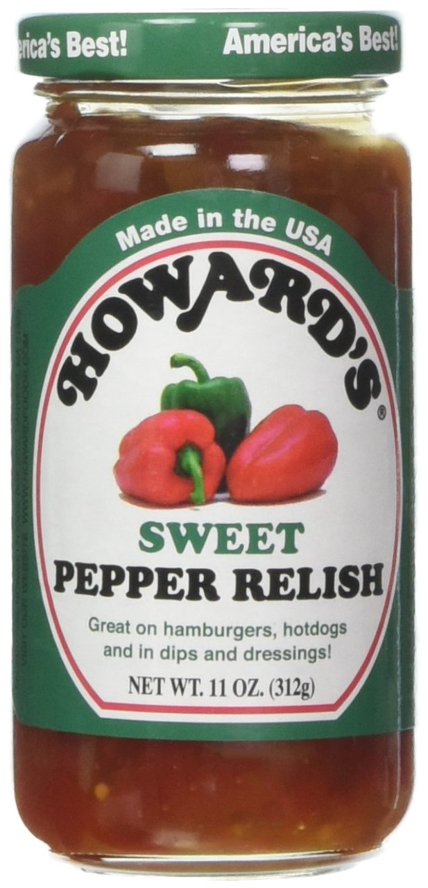 Howard's Sweet Pepper Relish,11 oz (Pack of 2)