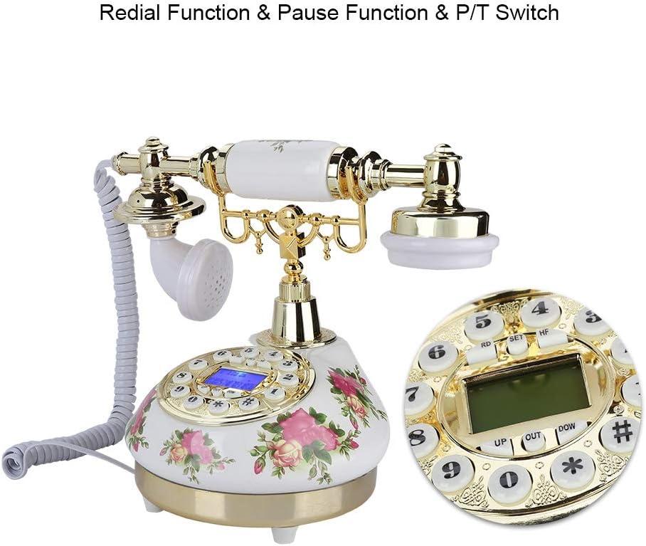 decoraci/ón de Tienda Dormitorio Tel/éfono Fijo Vintage con Sistema Dual FSK//DTMF Tel/éfono Antiguo Pantalla con identificador de Llamadas Tel/éfono Retro con Cable Regalos para Sala de Estar