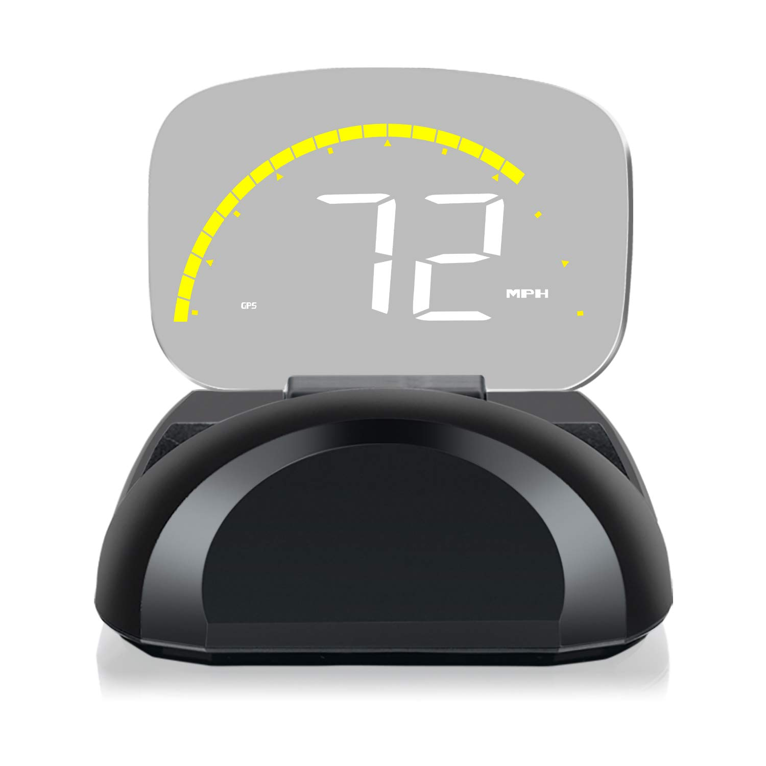 XYCING Car HUD OBD2 GPS Speedometer Dual Mode for All Vehicles, Heads Up Display Driving Data MPH Speed RPM Voltage Water Temperature Alarm Function