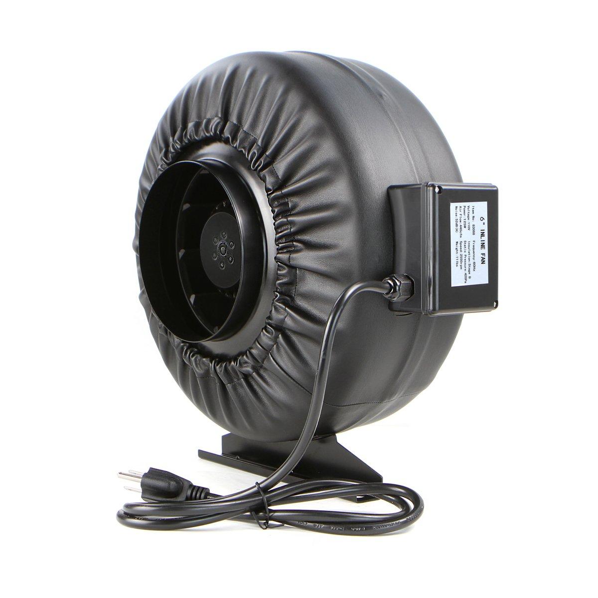 XtremepowerUS 6'' Inline Duct Fan 440 CFM