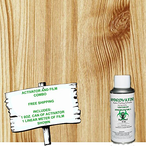 phic Film - Water Transfer Printing - Hydro Dipping - 6oz. Activator with STRAIGHT WOOD 2 KIT ()