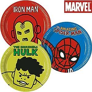 8 platos * Avengers Team Power * Cumpleaños para niños o ...