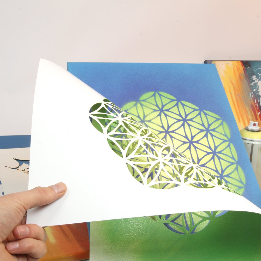 Pochoir en plastique Mandala A3-42 x 29,7 cm