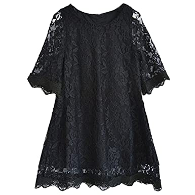 Amazon Bow Dream Short Lace Flower Girl Dress With Illusion