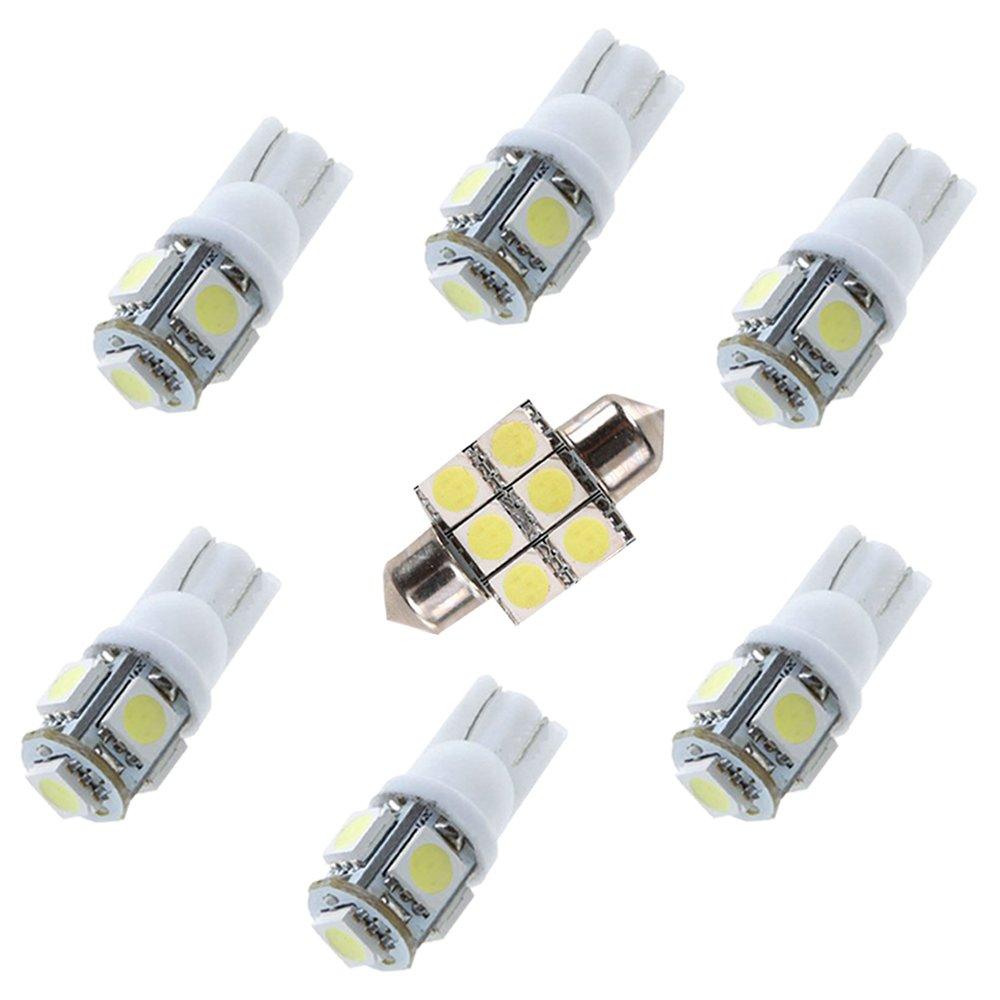Auto Dome Bombilla Kit Blanco 3pcs Muchkey luz de interior coche Para Yaris L