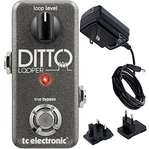 TC Electronics Ditto Looper Effects Pedal with ac power - Looper Pedal