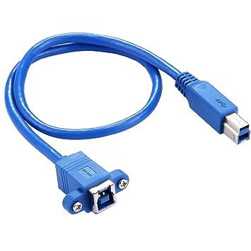 JINYANG Adaptador 50cm USB 3.0 B Hembra a Conector Macho B Cable ...
