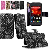 Cellularvilla Wallet Pu Leather Flip Open Pocket Stand Case Cover Pouch with Credit Card Id Holder Slots / Detachable Wrist Strap for ZTE Concord II 2 Z730 T-mobile