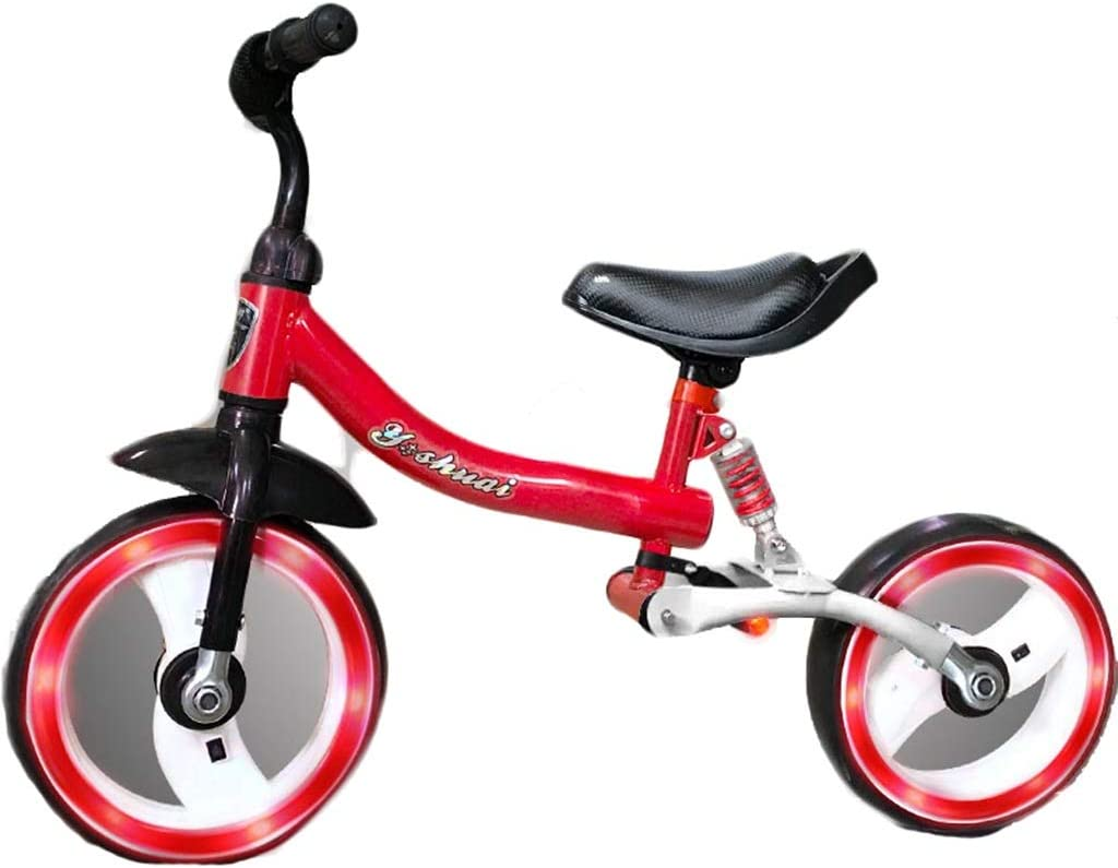 DFOREI Amortiguador de niños Equilibrio Bicicleta for niños Bicicleta de Diapositivas sin Pedal de Bicicleta 1-3-6 años Antiguo Amortiguador de Choque Neumático (Color : Red)