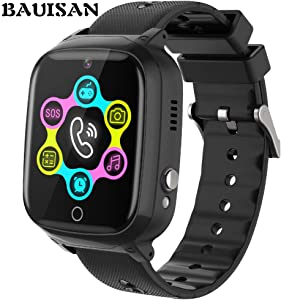 Smart Watch for Kids - Kids Smartwatch Boys Girls with Two Way Calls,SOS,7 Games,Camera,Alarm Clock,Music Player,Calculator,HD Touchscreen Kids Watches for Boys Girls Children 4-12 (Black)